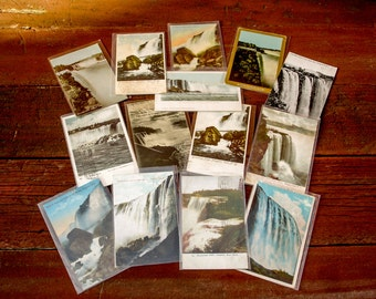 Early 1900s Niagara Falls, New York Postcard Collection Lot of 14 Antique Vintage Color Postcards of Niagara Falls NY and Canada