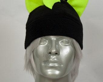 Fluorescent Yellow Mohawk Hat