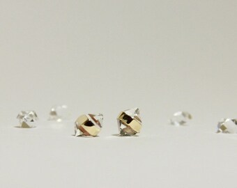 Herkimer Diamond Stud Earrings in 14k Gold Fill