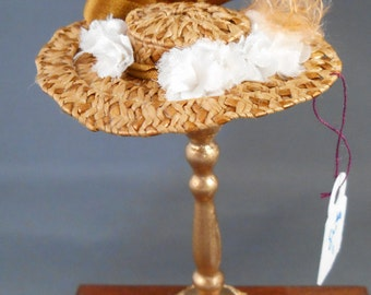 1 Inch Scale Dollhouse Miniature Hat