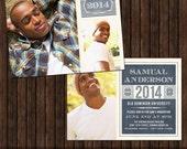 INSTANT Download 5x7 Senior Graduation Announcement Template, Graduation Invitation - G9
