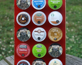 K Cup holder 15 Kcups Painted and aged distressed in your choice of colors