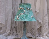 Shabby Chic Turquoise Beach Cottage Bedroom Lamp
