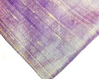 Indian Silk Fabric - Pure Silk Dupioni - Raw Mulberry Silk - Lavender Raw Silk - Indian Dupioni Silk -Dupioni Silk