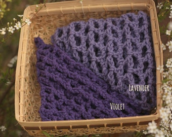 Large Toy Hammock in YOUR CHOICE of Purples - Toy Net - Stuffed Animal Organizer - Lovey Corral - Made to Order