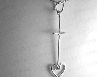 Long Cross Necklace - Cross - Sterling Silver - 925 - Jesus Jewelry - Christian Jewelry - Cross Jewelry - Faith Jewelry - Christian