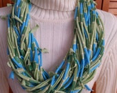 Recycled Hand Knotted T Shirt Scarf