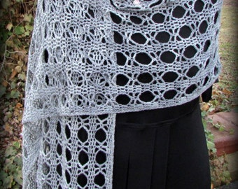Pattern only - Garbo Shawl pattern crochet lace pattern shawlette rectangle scarf