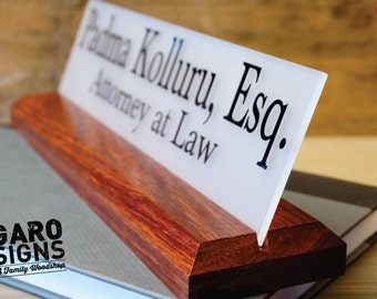 Desk Sign 2.5 x 10 inches