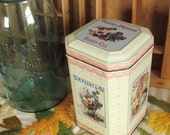 Ferry-Morse Seed Co. Vintage Advertising Tin with Hinged Lid Flower and Garden Seeds