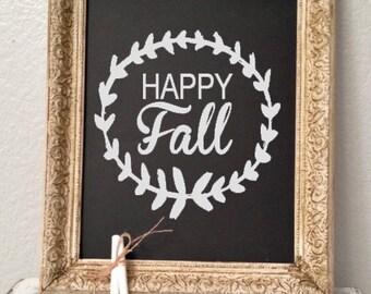 Happy Fall. Custom vinyl wall decal.