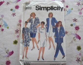 Diy Sewing Pattern-Simplicity 7896 Short Dress n Jacket Size 18w,20w,22w,24w plus size vintage 1992
