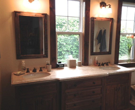 24x30 pair reclaimed wood bathroom mirror by hurdandhoney 20112