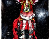 11x17 RED GIRL Ink and Marker Original Art