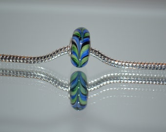 EB-422  Beautiful European Glass Blue and Green