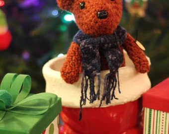 Crocheted  Wool Teddy Bear