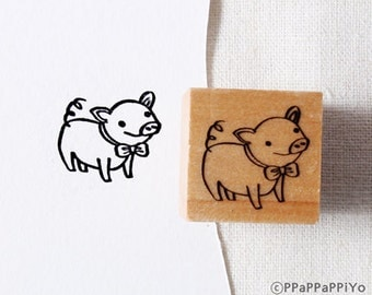40% OFF SALE cute PIG Rubber Stamp (20mm)