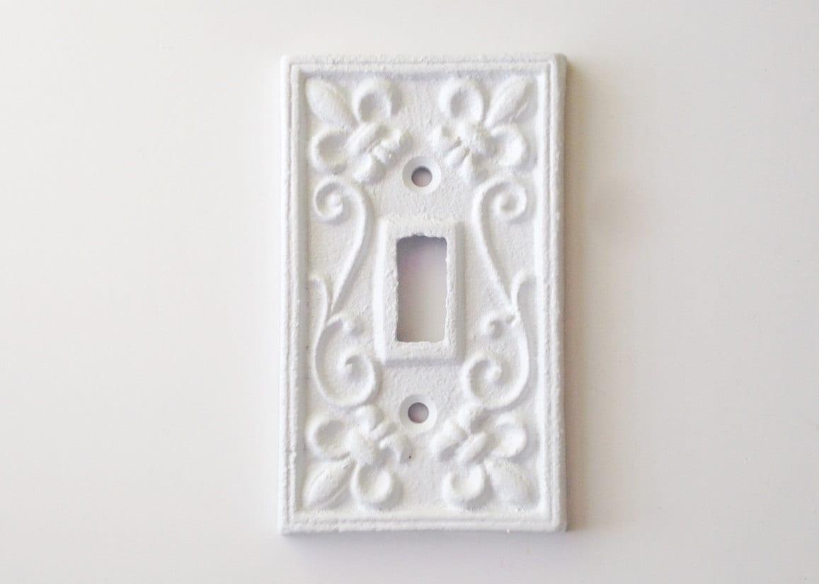 Switch Plate Cover Fleur De Lis Ornate By Juxtapositionsc