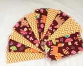 Cloth Baby Wipes, Flannel Washcloth, 2 Ply Diaper Wipes, Baby Washcloth, Chevon Wipes