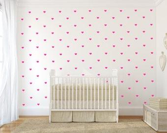 Vinyl Wall sticker decor wall decal pattern - mini hearts