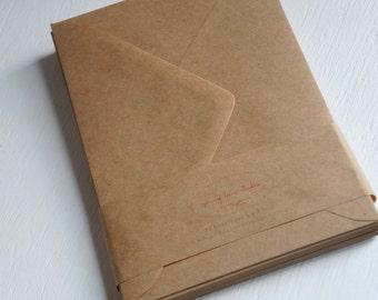 Kraft 5x7 inch envelopes - set of 100