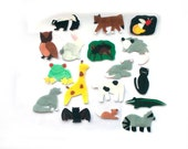 Felt Stories - Animal Felt Set - Flannel Board Stories - Montessori Preschool Toys - Backyard - Jungle - Farm - Forest