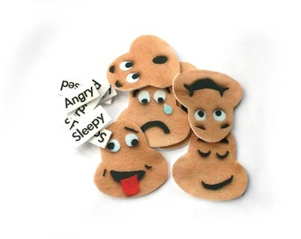 Emotion Feeling Faces Communication Felt Story Flannel Board, Child Life