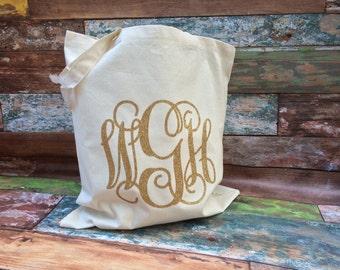 Monogrammed Tote Bag, Monogrammed Bridesmaid Gifts, Canvas Tote Bag, Monogram Tote Bag, Wedding Favors, Monogram Canvas Tote bag