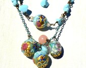Robin's Egg Blue Necklace - Antique Beads