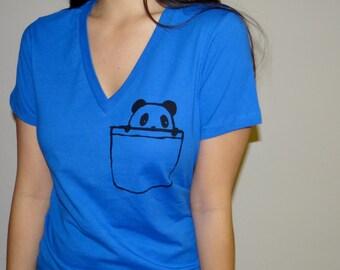 Panda Pocket Women's Deep V-Neck