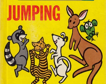 Jumping - a picture book by Karen Stephens, illustrated by George Wiggins