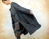 Grey Cashmere Coat, Wool Coat Long Wool Coat Winter Coat Long Sleeve Coat Jacket for Women