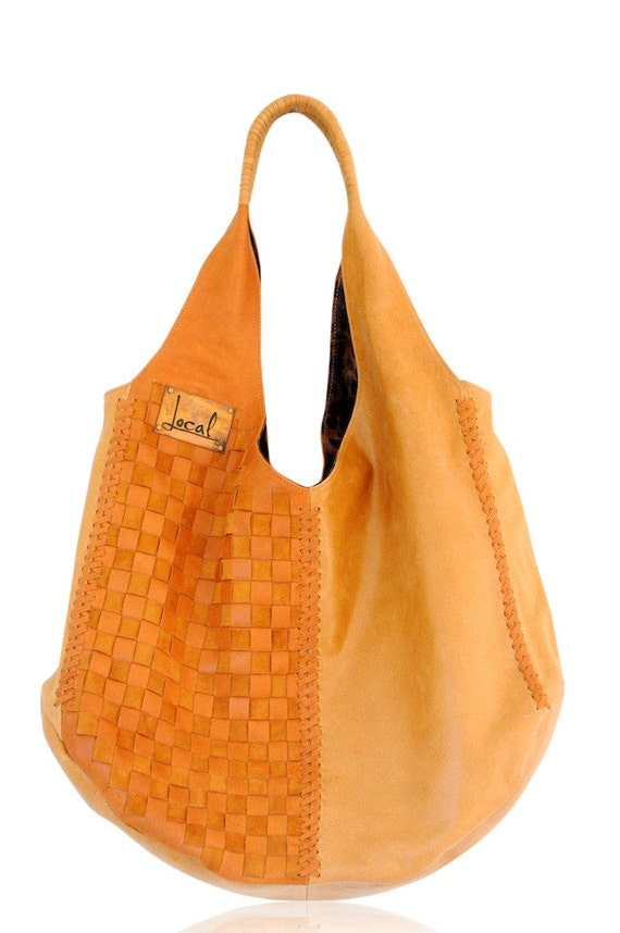 BELLA. Boho leather bag / oversized tote / shoulder bag / bohemian leather bag / diaper bag / slouchy. Available in different leather colors