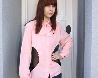 A 'Columbia' Pink and Black Shirt
