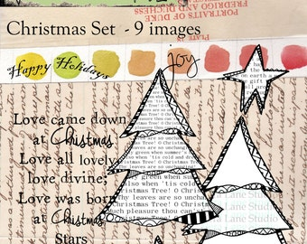 Christmas digi stamps