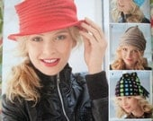 Simplicity Misses' Hats Pattern 1959, To Make 5 Different Fleece Hats! - Size S-M-L