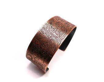 Pretty Paisley Bracelet Cuff Handmade