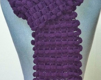 New colors!  Chunky Bobble Scarf - Aubergine, Navy , Off white,