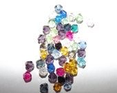 Crystal Bicone Beads mixed colors 4mm - 50 pc