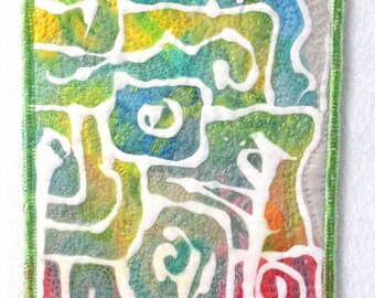 Color Maze Fabric Art