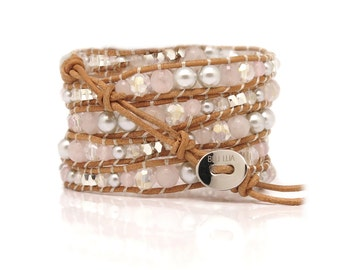 Wrap Bracelet Rose Quartz |  All About Love