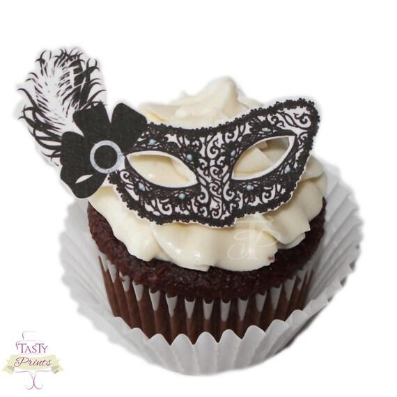 Masked Ball Cake Topper