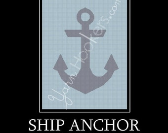Ship Anchor - Afghan Crochet Graph Pattern Chart - Instant Download