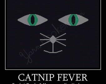 Catnip Fever  - Afghan Crochet Graph Pattern Chart - Instant Download