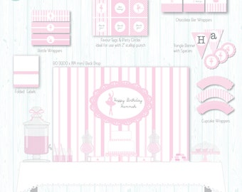 Personalised Printable Party Pack - Twirling Ballerina