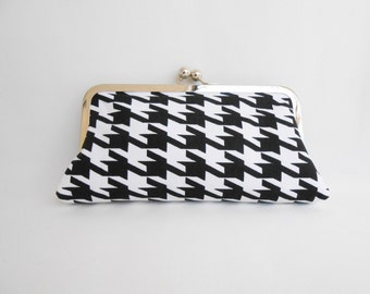 Black and White Kiss Clutch