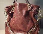 SALE - Vintage Brown Leather Coach Purse
