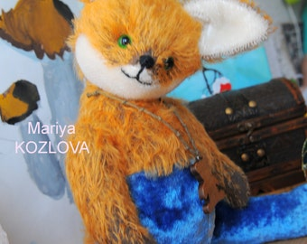 Funny Fox in Pants Pattern/ 14 inches (36 cm) fully jointed stuffed toy pattern/ classic orange fox pattern/ traditional mohair toy pattern