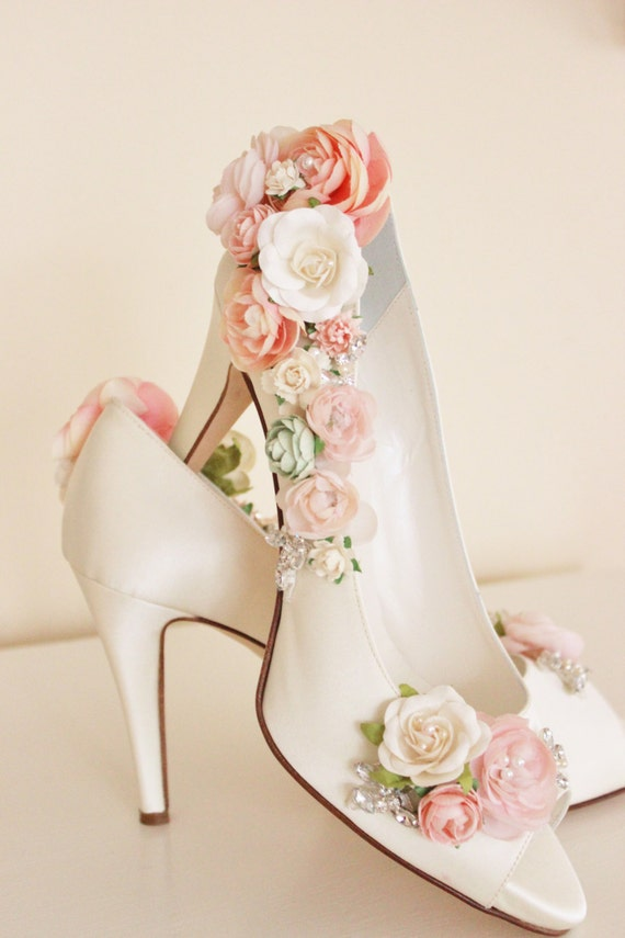 blush bridal shoes