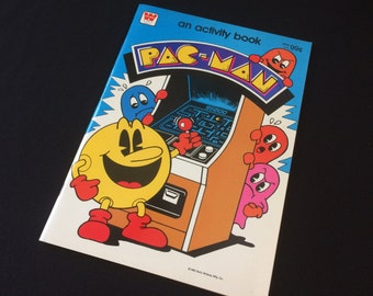 Pac-Man UNUSED Activity Book 1982
